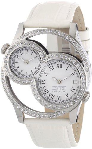 Esprit EL101212F02 - Reloj analógico de cuarzo para mujer con correa de piel, color blanco