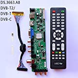 Xennos DS.D3663LUA.A8-1-A V56 V59 Universal LCD Driver Board Support DVB-T2 DVB-T DVB-C Universal TV Board 3663 remate control lvd - (Plug Type: T2)