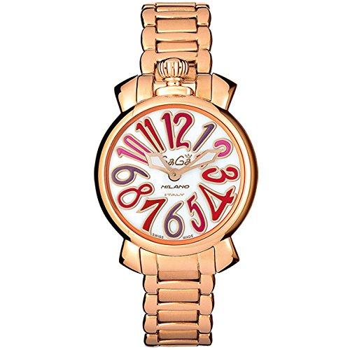 ガガミラノ 腕時計 GAGA MILANO Manuale 35mm レディース 18kPGコーティング 時計 6021.3 レディース [正規品]