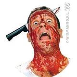 Messer durch Kopf ca. 38x17, Fasching, Karneval, Halloween
