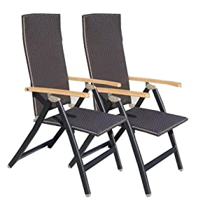 2er set klappstuhl malawi mit holz armlehne. Black Bedroom Furniture Sets. Home Design Ideas