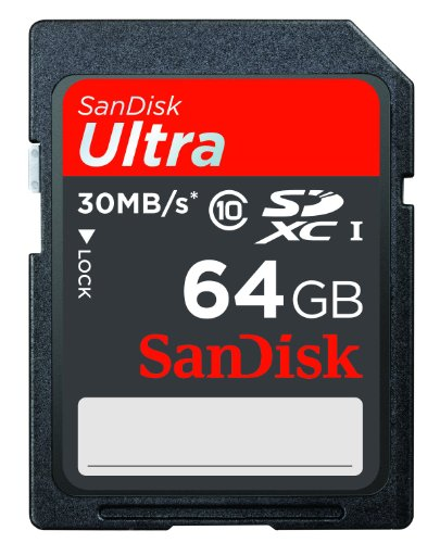 SanDisk Ultra 64GB SDXC Class 10/UHS-1 Flash Memory Card Speed Up To 30MB/s- SDSDU-064G-U46 (Label May Change) [Old Version]