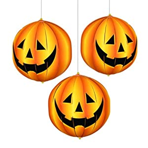 Halloween Party Decoration 3d Hanging Pumpkins by Party Bags 2 Go