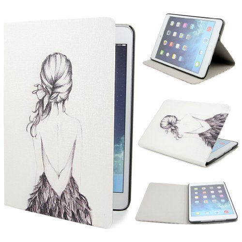 Leathlux B10 Painting Art Design PU leather Flip Cover Case for Apple iPad mini and iPad Mini 2