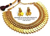 DIVINIQUE JEWELRY Pearl Necklace Set For Women -Gold & White