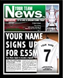 Bolton Wanderers F.C - Personalised Newspaper Print