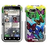MyBat Motorola Defy Phone Protector Cover - Butterfly Garden (Sparkle)