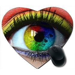 Awwsme Colourful Eye Heart Mousepad