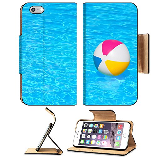 MSD Premium Apple iPhone 6 Plus iPhone 6S Plus Flip Pu Leather Wallet Case IMAGE ID 30943046 Inflatable colorful ball floating in the swimming pool