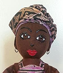 Jahzara 4- OOAK, Black, African American, Handmade Dolls of Color, Black Cloth Dolls, Black Dolls Matter, Ethnic Dolls