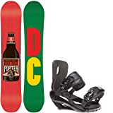 DC Mega 153.75 Mens Snowboard + Sapient Wisdom Black Bindings by DC