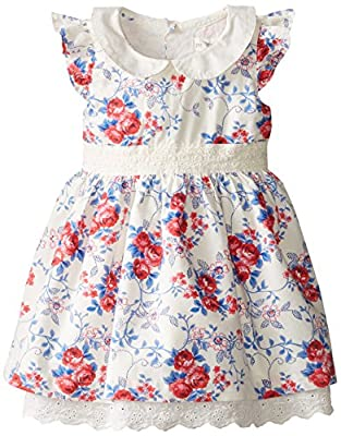 Pumpkin Patch Baby-Girls Infant Peter Pan Collar Holly Hobby Dress
