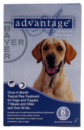 Advantage - Blue Box for Dogs over 55 pounds - 6 pack
