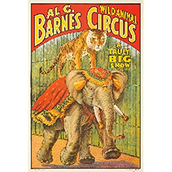 Al G Barnes Circus Vintage Poster USA (16x24 Giclee Gallery Print, Wall Decor Travel Poster)