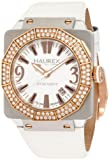 Haurex Italy Women's Athenum Rose- IP Swarovski Crystal Aluminum Watch White 8U372DWH