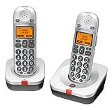AUDIOLINE BigTel 202 snurloses Großtastentelefon mit zwei...