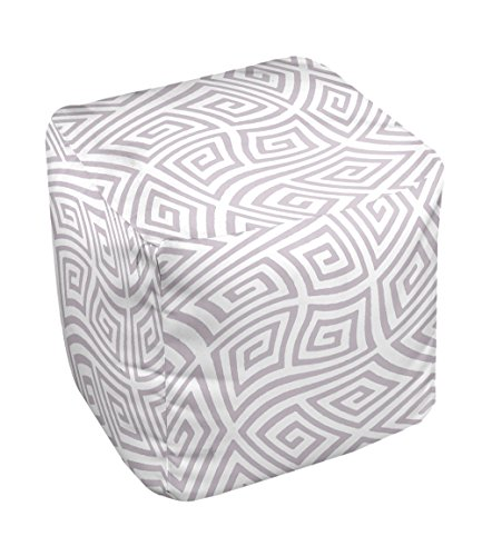 E by design FG-N9A-Rain_Cloud-18 Geometric Pouf