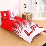 Liverpool FC Fade Single Duvet Cover and Pillowcase Set