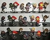 Marvel The Avengers Movie Figure Set of 8 Exclusive Grab Zags Toys Includes : Iron Man , Black Widow , Hawkeye , Loki , Thor , Captain America , Hulk & Nick Fury