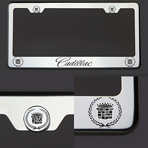 one-laser-engraved-black-cadillac-mirror-stainless-steel-license-plate-frame-holder-front-or-rear-br
