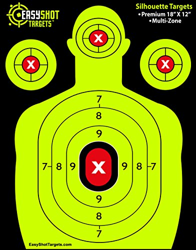 EasyShot Silhouette Shooting Targets | Maximum Visibility | 18