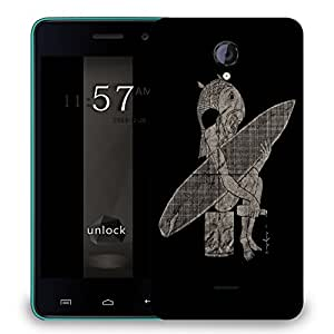 Snoogg Fish Man Designer Protective Back Case Cover For MICROMAX UNITE 2