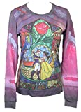 Beauty and The Beast (Disney) Girls Light Sweatshirt - Stained Glass Dance Pic