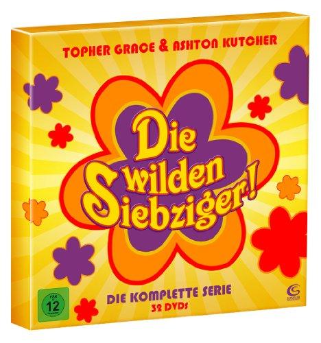 Die wilden Siebziger - Die komplette Kultserie mit Ashton Kutcher und Topher Grace (200 Folgen auf 32 DVDs, hochwertige Box im Plattenalbum-Format)