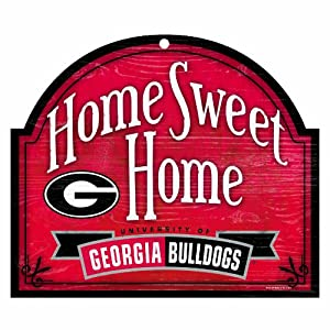 Buy NCAA Georgia Bulldogs 10-by-11 Wood Home Sweet Home Arch Sign by WinCraft