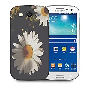 Snoogg White Sunflowers Designer Protective Back Case Cover For Samsung Galaxy S3