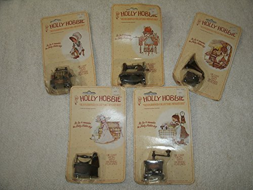 set-of-five-holly-hobbie-old-fashioned-collectors-doll-house-miniatures-die-cast-metal-with-working-