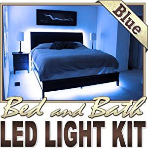 biltek 16 4 39 ft blue bedroom dresser headboard led