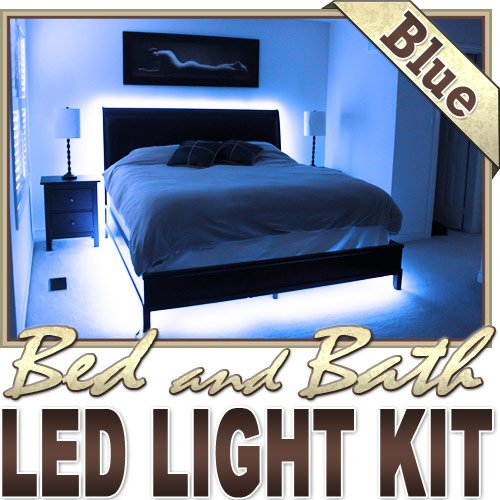 6' Ft Blue Bath Tub Sink Mirror Led Strip Lighting Complete Package Kit Lamp Light Diy - Behind Headboard, Closet, Make Up Counter, Behind Mirror, Reading Light, Night Light Led Reading Light Strip Night Light Lamp Bulb Accent Lights Smd3528 Waterproof 35