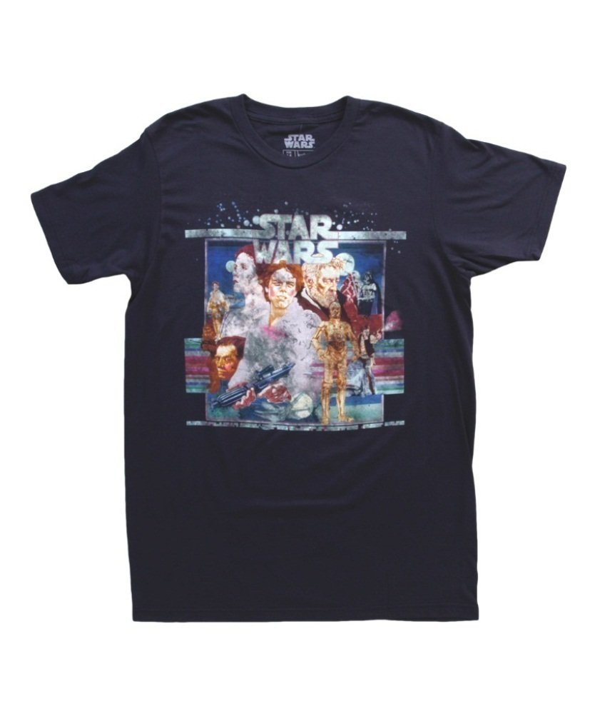 Mighty Fine Star Wars Vintage Poster Art T-Shirt Indigo 0