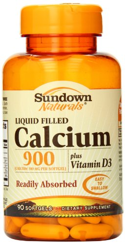 Sundown Naturals Calcium 900 Plus D, 90 Softgels