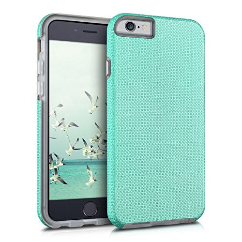 kalibri-Armor-Hlle-fr-Apple-iPhone-6-6S-TPU-Silikon-und-Kunststoff-Case-in-Mintgrn