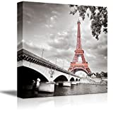 "Wall26 Canvas Prints Wall Art - Eiffel Tower in Paris, France | Modern Wall Decor/ Home Decoration Stretched Gallery Canvas Wrap Giclee Print. Ready to Hang - 16"" x 16"""