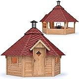 Grillkota Pavillon Dacheindeckung wählbar inkl. Grillanlage ca. 9m²