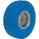 "Vestil UFBL-10-WHL-58 Urethane Solid Foam Wheel for Aluminum Hand Truck, 300 lbs Capacity, 10"" Diameter, Blue"