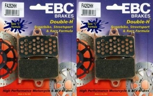 EBC Sintered Double H Front Brake Pads (2 Sets) 2001-2005 Yamaha FZS1000 FZ1 / FA252HH (Fz1 Radiator compare prices)