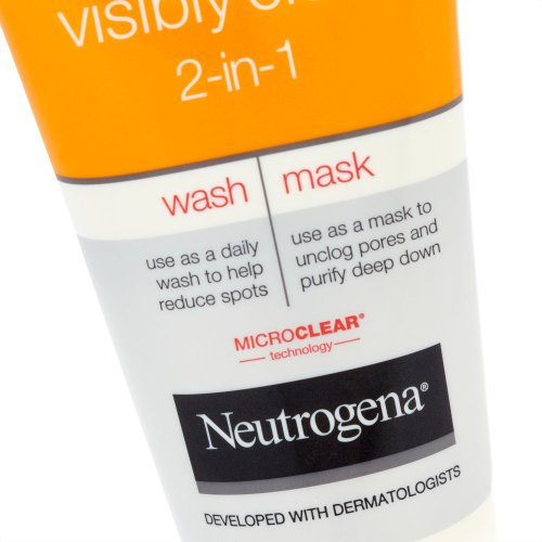 neutrogena visibly clear 2 en 1 nettoyant masque tube 150 ml protection solaire. Black Bedroom Furniture Sets. Home Design Ideas