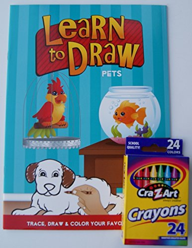 Learn to Draw Coloring Kit - Pets - 1