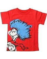 Bumkins Dr. Seuss Short Sleeve Toddler Tee, Red Thing 2, 3T
