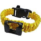 Generic Generic Camping Outdoor Umbrella Rope Opener Survival Rope Bracelet-Yellow