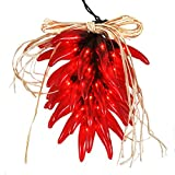 Red Chili Pepper Ristra Lights