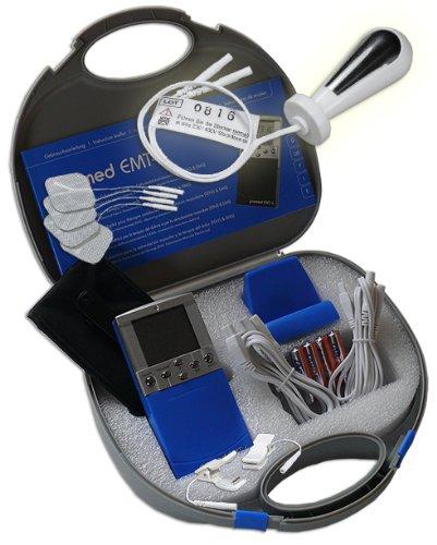 EMS / Tens 2-Kanal Reizstromgerät EMT-4 plus Vaginalsonde PR-02 + Klemmen. Medizinprodukt für wirksame Schmerz- und Muskelbehandlung