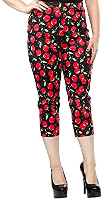 Women's Sourpuss Cherry Pie Peggy Capris
