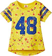Ufo Girls' Shirt (SS15-KB-GKT-005_Yellow_6 - 7 years)