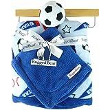 """30"""" X 30"""" Fleece Sports Themed Baby Blanket Gift Set (Soccer)"""