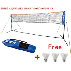 Buy Sobuy Height Adujstable Badminton Net , Tennis Volleyball Net with Stand Frame by SoBuy